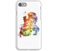 Beauty & The Beast Watercolour Design iPhone Case/Skin
