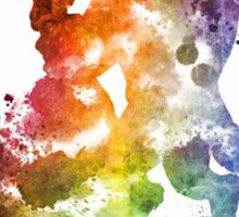 Beauty & The Beast Watercolour Design Sticker