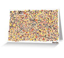 Berlin City Map Greeting Card