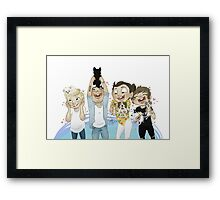 one two three eight ten puppies! Framed Print