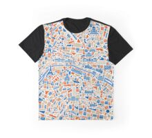 Paris City Map Graphic T-Shirt