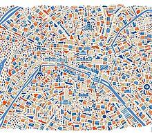 Paris City Map by Vianina