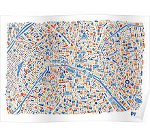 Paris City Map Poster