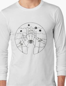 Communication - Black and White Long Sleeve T-Shirt