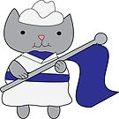 Color Guard Cat by ValeriesGallery