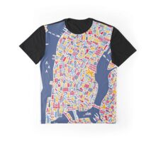 New York City Map Graphic T-Shirt