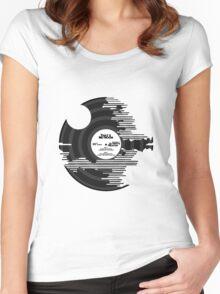 Star Wars - Death Star Vinyl Women's Fitted Scoop T-Shirt