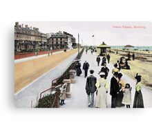 1900 Worthing West Sussex Heene Parade, coastal scene Canvas Print