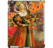 Vintage Aries Gothic Whimsical Collage Woman Fantasy iPad Case/Skin
