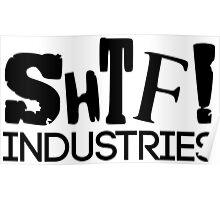 SHTF Typographic Logo Poster