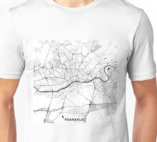 Frankfurt City Map Gray Unisex T-Shirt