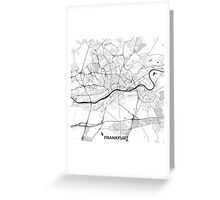 Frankfurt City Map Gray Greeting Card