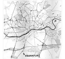 Frankfurt City Map Gray Poster