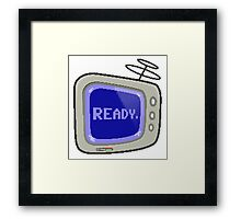 Commodore 64 Monitor Screen TV Framed Print