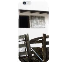 Fence on Country White  iPhone Case/Skin