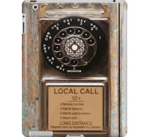 phone antique rotary dial pay telephone booth iPad Case/Skin