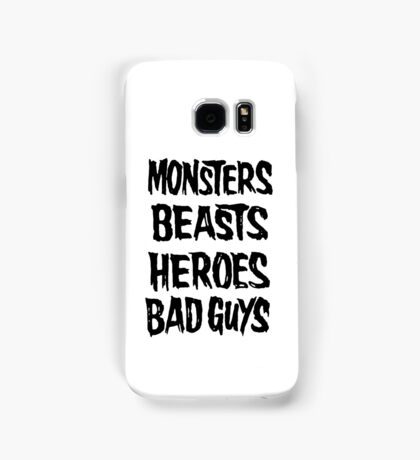 monsters beasts heroes bad guys Samsung Galaxy Case/Skin