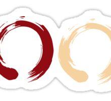 Zen Elemental Ensōs (Plain) Sticker