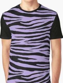0373 Light Pastel Purple Tiger Graphic T-Shirt