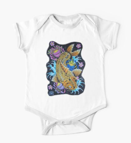 Spotted Koi Fish One Piece - Short Sleeve