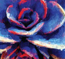 Bleu Succulent Sticker