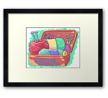 Knitting Enthusiast Framed Print