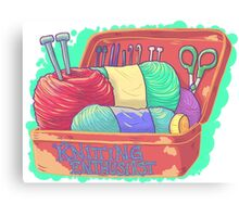 Knitting Enthusiast Canvas Print