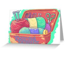 Knitting Enthusiast Greeting Card