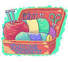 Knitting Enthusiast Photographic Print