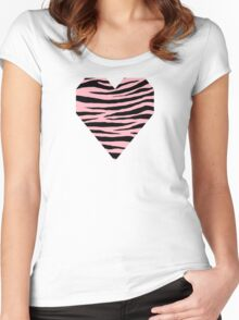 0374 Light Pink Tiger Women's Fitted Scoop T-Shirt
