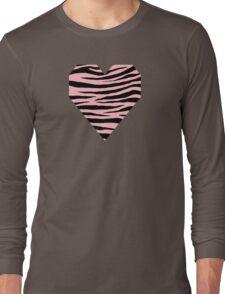 0374 Light Pink Tiger Long Sleeve T-Shirt