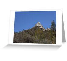 Moro Rock in the Sequoia National Forest Greeting Card