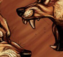 Fighting Wolves Sticker