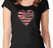 0376 Light Salmon Pink Tiger Women's Fitted Scoop T-Shirt