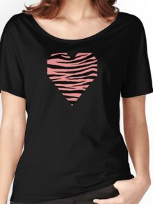 0376 Light Salmon Pink Tiger Women's Relaxed Fit T-Shirt