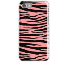 0376 Light Salmon Pink Tiger iPhone Case/Skin