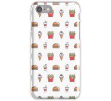Burgers, Fries, Milkshakes - Diner Food iPhone Case/Skin