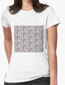 Brown Fishy Womens Fitted T-Shirt