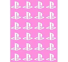 Playstation Symbol Pattern Photographic Print