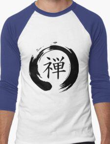 Zen Mindfulness Ensō (Dhyāna) Men's Baseball ¾ T-Shirt