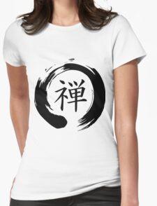 Zen Mindfulness Ensō (Dhyāna) Womens Fitted T-Shirt