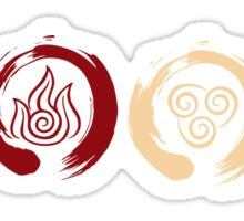 Avatar Inspired Zen Elemental Ensos Sticker