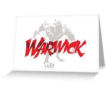 Warwick Greeting Card