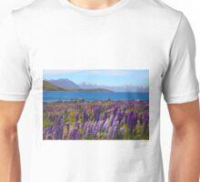 Lake Tekapo and wild flowering lupins Unisex T-Shirt