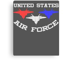 United States Air Force Red, White, & Blue Fighter Jets Canvas Print