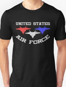United States Air Force Red, White, & Blue Fighter Jets T-Shirt