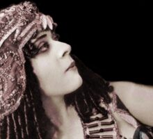 Theda Bara Cleopatra with Flower Sticker
