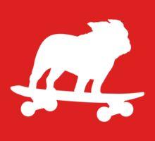 Skateboarding Bulldog Baby Tee
