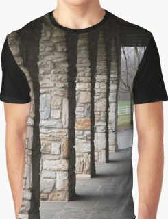 Tree and Columns Graphic T-Shirt