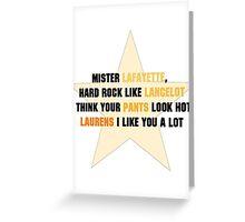 Lafayette, Mulligan, Laurens Greeting Card